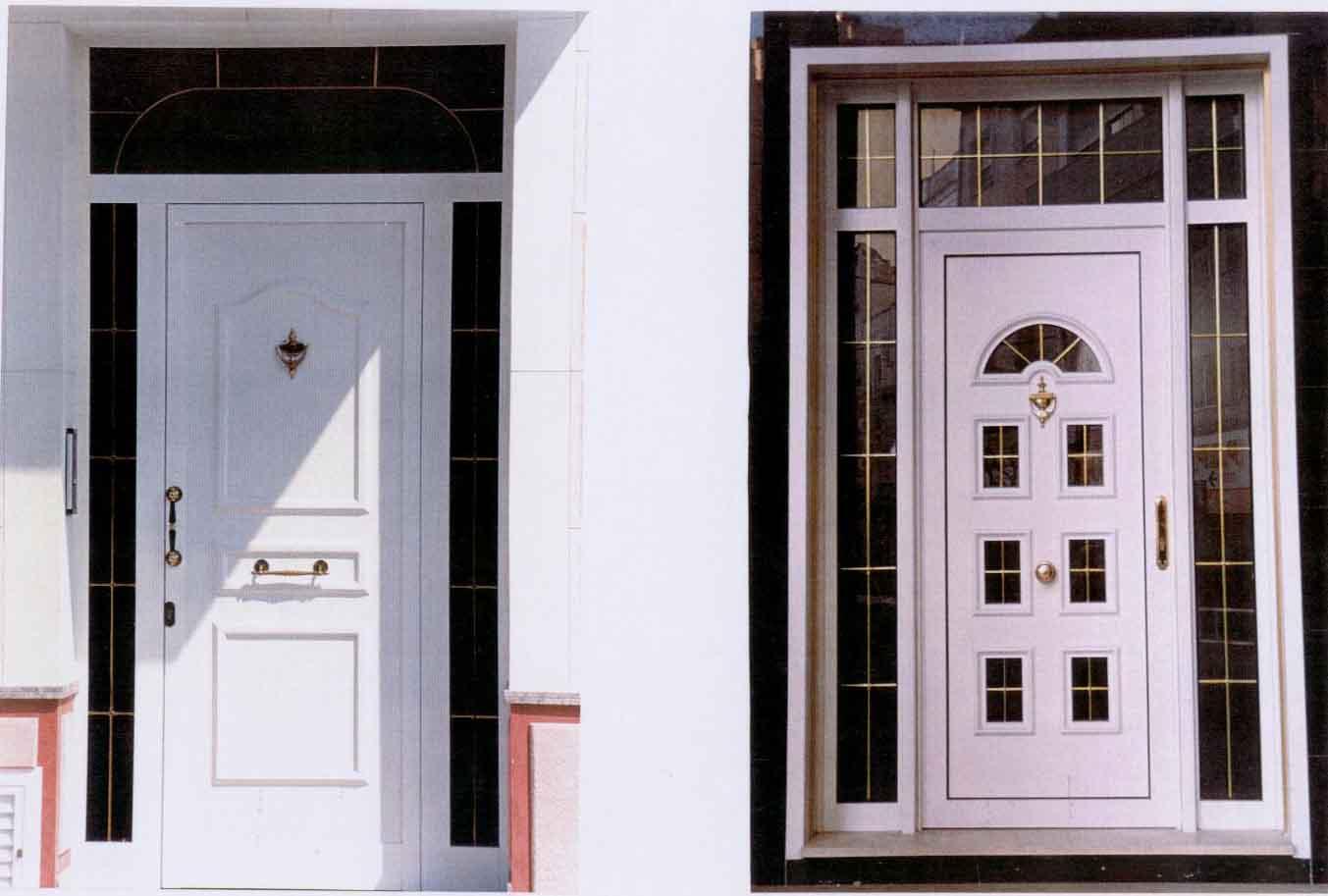 Imagenes de puertas de aluminio imagui for Puertas principales exteriores