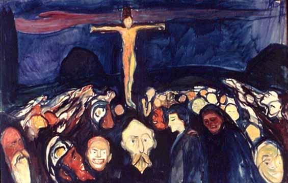 L'URLO DI MUNCH  (Golgotha di Munch) vedi (1) dans ARTE