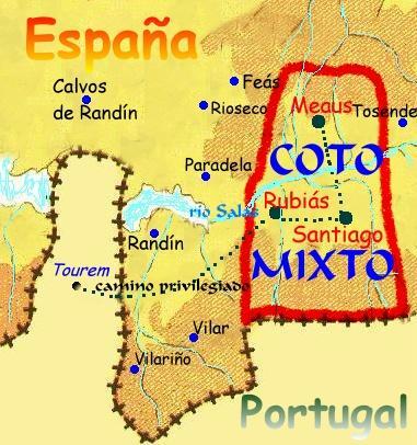 Mapa del Coto Mixto