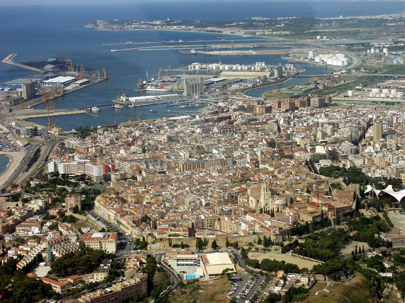 Tarragona Spain  City pictures : anorámica aérea de la ciudad de Tarragona.